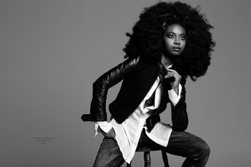 Faith Obae big hair editorial