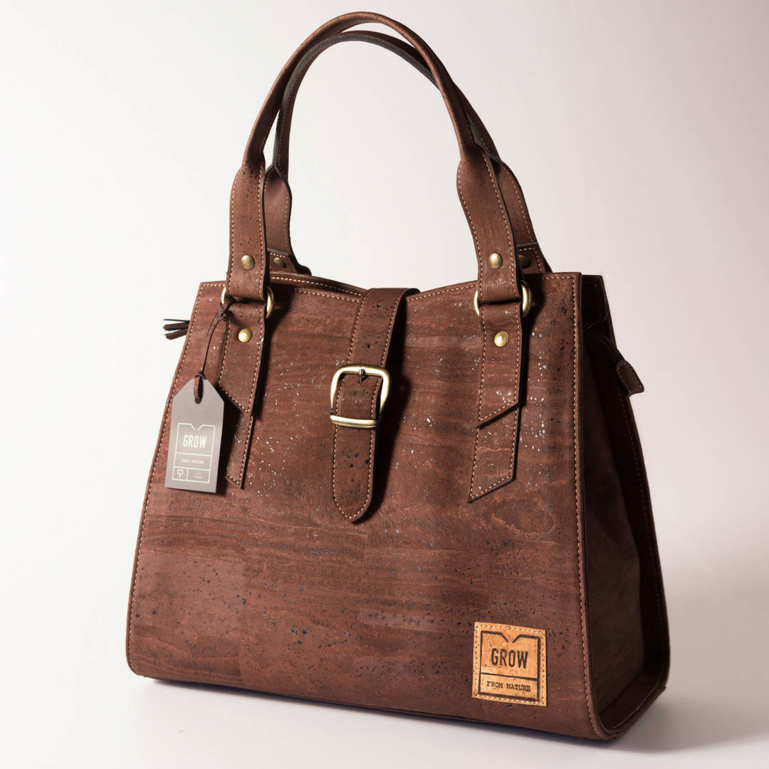 natural cork handbag grow from