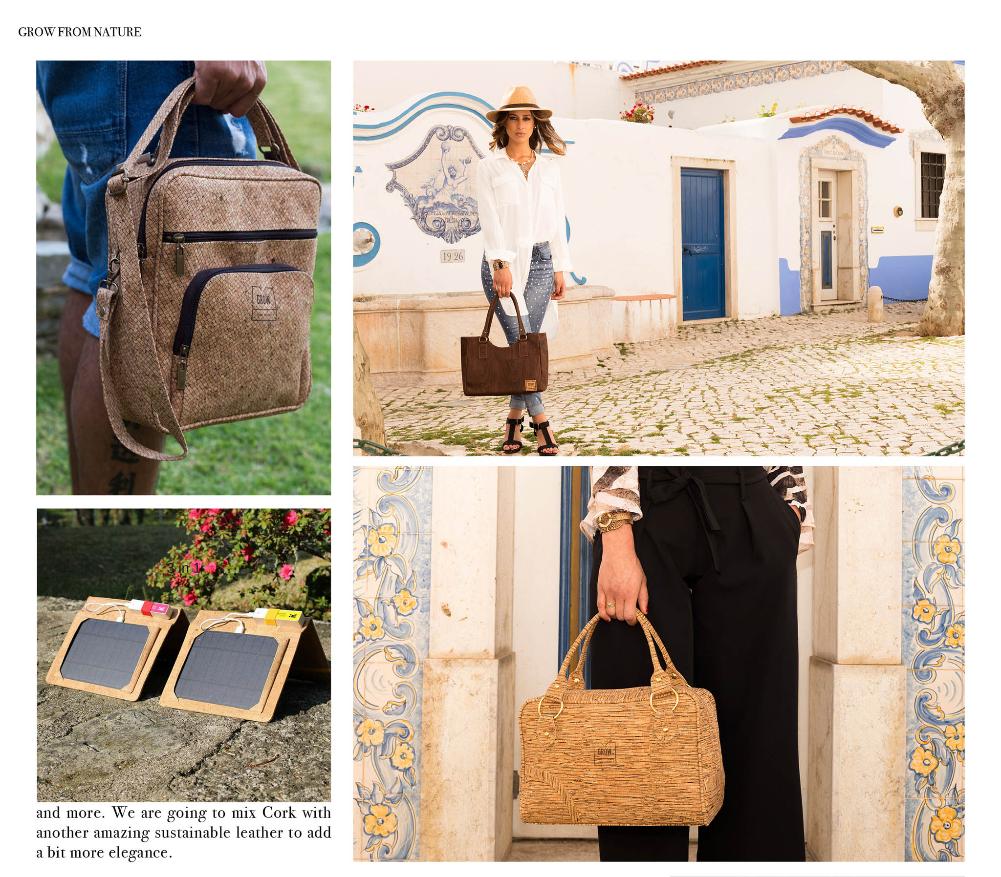 accessories made of cork grow from