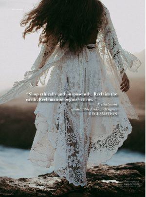 Ecowalk Reclaiming Fashion With Designer Trista Smith I Never Ever Make Exactly The Same Dress Twice Sheeba Magazine