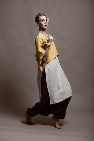 garment made of organic linen fabric