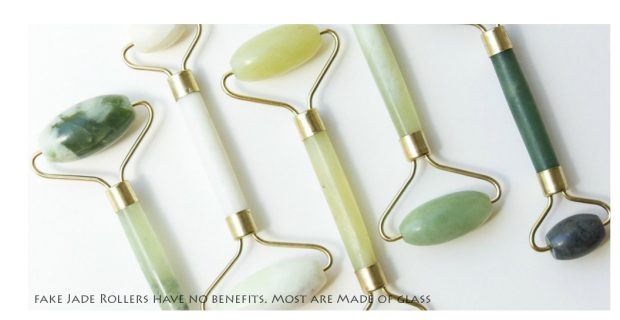 fake jade rollers made of glass