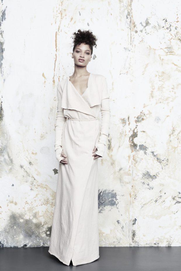 dress made of organic cotton fabric