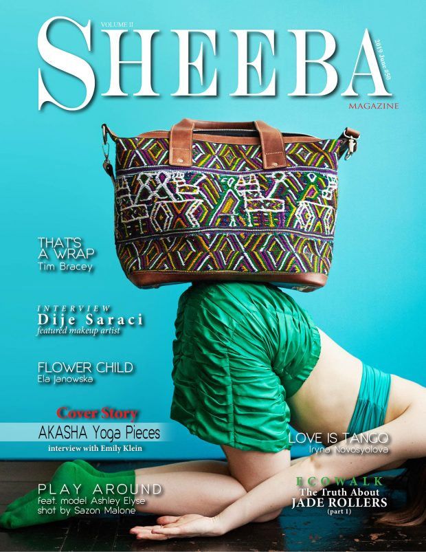 Akasha yoga pieces sheeba magazine cover sustainable Guatemala