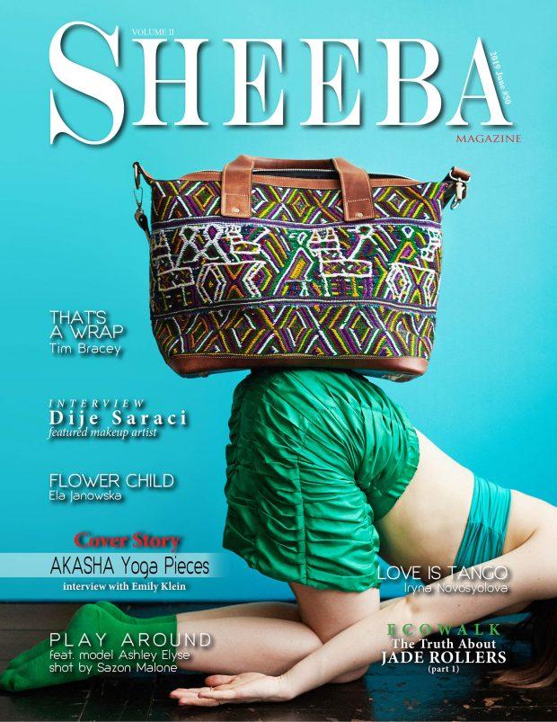 Akasha yoga pieces sheeba magazine cover sustainable Guatemala