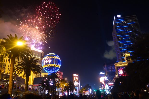 2019 new year's eve in Vegas