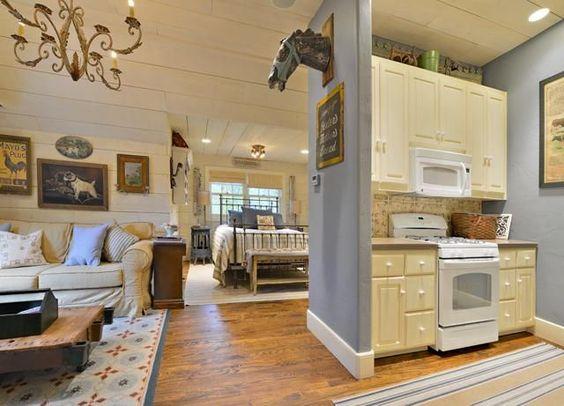 garage into a unique guesthouse