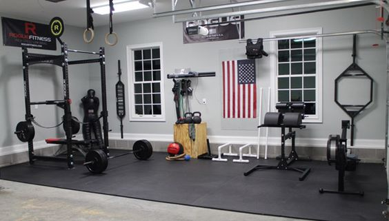 convert your garage into gym