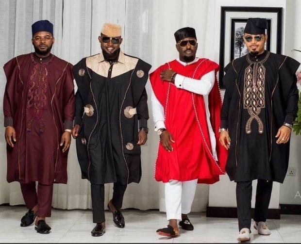 Nigerian men fashion agbada style