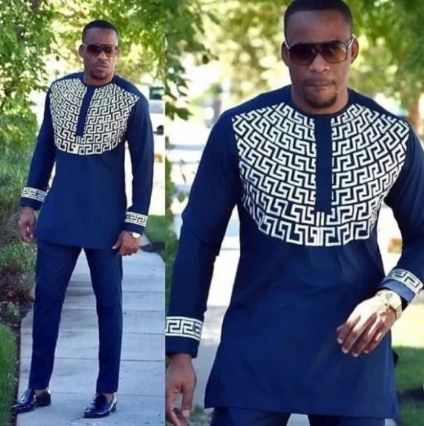 Nigerian men fashion senator style native style
