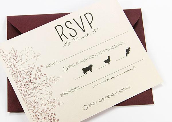 rvsp invitation