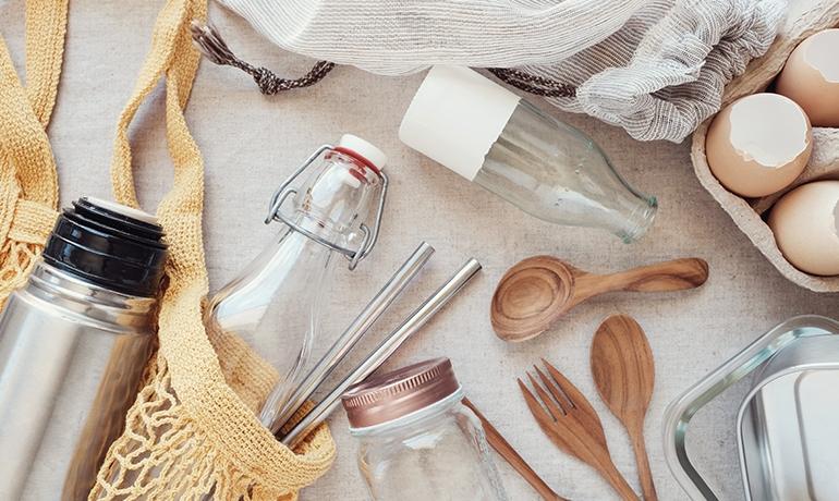 avoid single use plastic environmentally friendly home