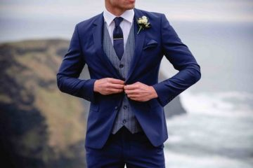 stylish groom wedding