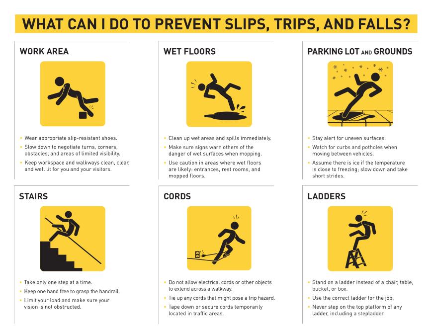 holiday season safety tips slipery strais