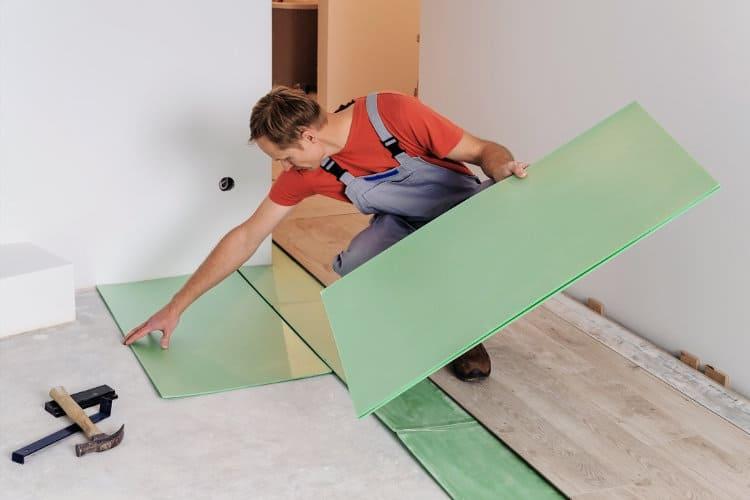floor underlayment for soundproof room