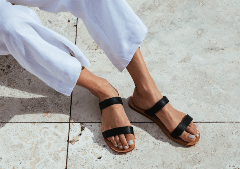 two strap slip shoes