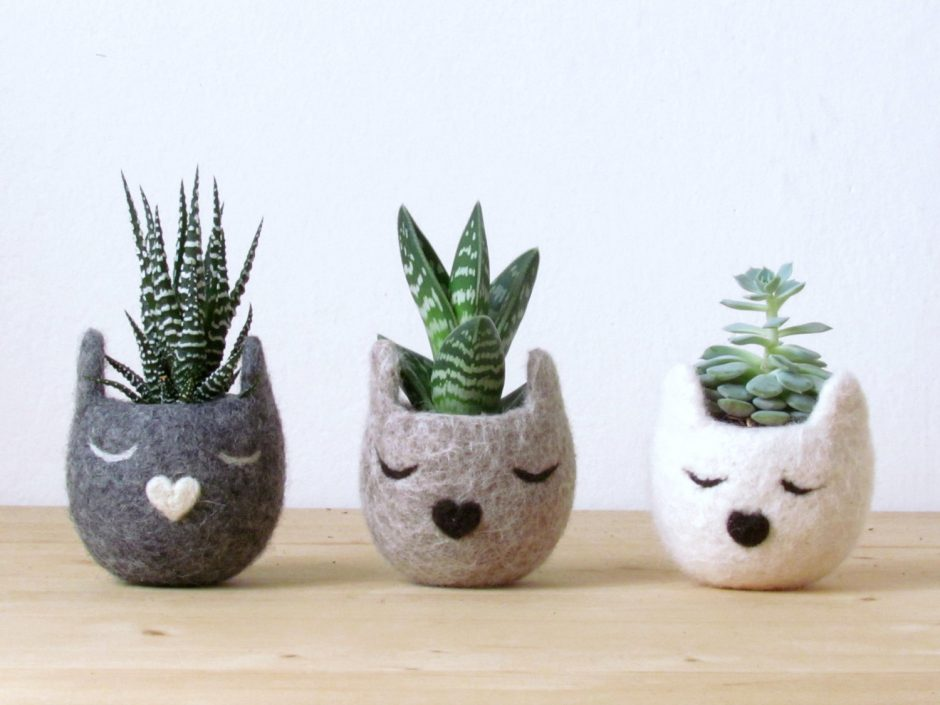 refurbish your home with earth friendly home decor felted pots