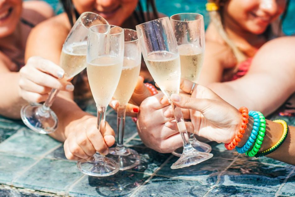girls celebrate