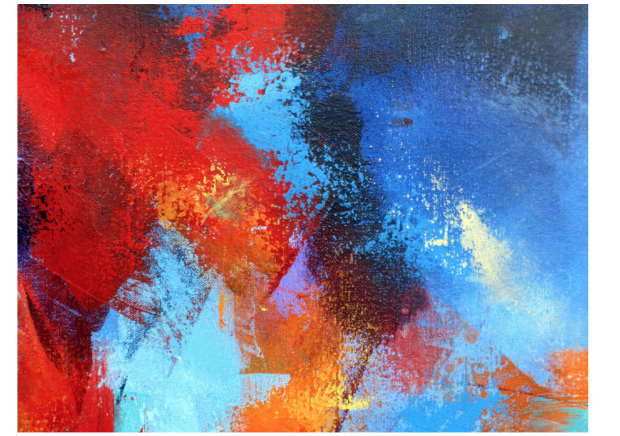Psychological Impacts Of Colour red adrenaline painting