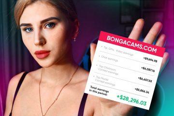 girl from Washington shares real figures of her income on Bongacams