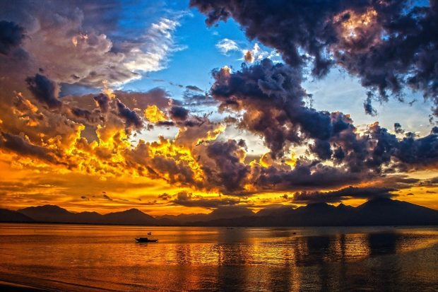sunset in summer photos