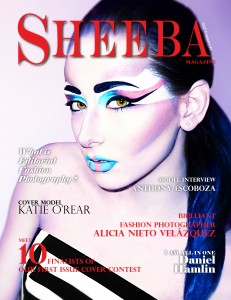 Sheeba Magazine February 2015 Cover by photographer Rose Prebola